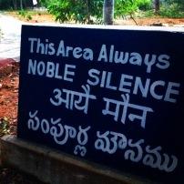 Noble silence